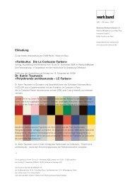 Farbkultur. Die Le Corbusier Farben - Deutscher Werkbund