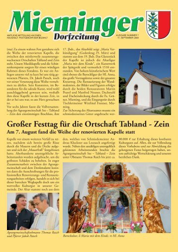 Mieminger Dorfzeitung September 2009 - Gemeinde Mieming ...