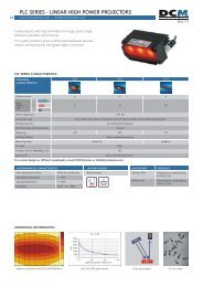 PLC SERIES - LINEAR HIGH POWER PROJECTORS - NET GmbH
