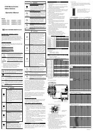CCD Monochrome Video Camera Operation Manual - NET GmbH