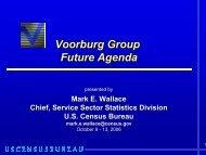 Voorburg Group Future Agenda