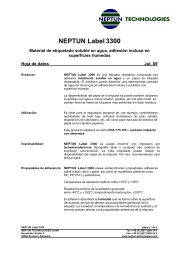 NEPTUN Label3300 - neptun technologies