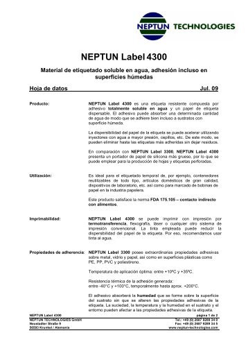 NEPTUN Label4300 - neptun technologies