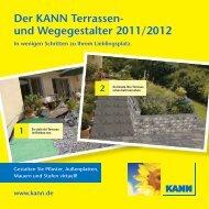 Der KANN Terrassen- und Wegegestalter 2011/2012 - Kann GmbH