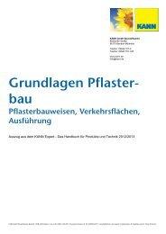 Grundlagen Pflaster- bau Pflasterbauweisen ... - Kann GmbH