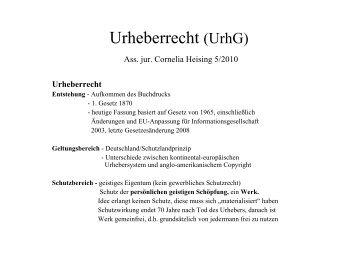 Urheberrecht (UrhG)