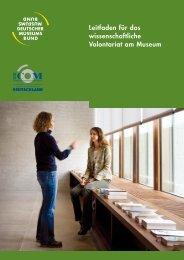 Leitfaden für das wissenschaftliche Volontariat am Museum - ICOM ...