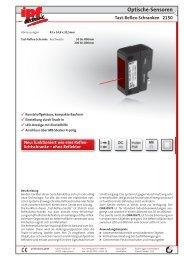 Optische-Sensoren Tast-Reflex-Schranken 2150 - IPF Electronic ...