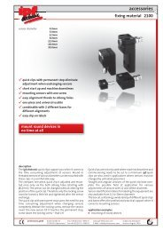 accessories fixing material 2100 - IPF Electronic GmbH