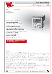 evaluation systems 1100 multi-function counters - IPF Electronic ...