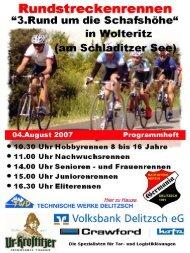 Liebe Radsportler und Freunde des Radsportes - Germania Delitzsch