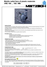 Mobile radial fans of plastic materials VRE 100 ... 160 / MB
