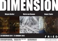 Dimensions - Fried Contemporary Art Gallery & Studio