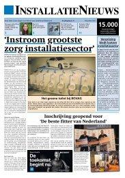 'Instroom grootste zorg installatiesector' - WeesperNieuws