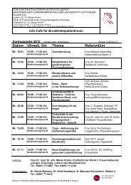 Datum Uhrzeit, Ort Thema Referent(in) - Diakoniekrankenhaus ...