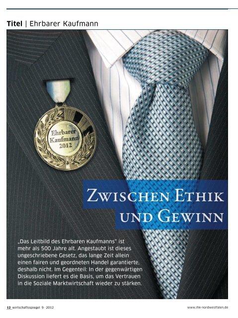 Titel | Ehrbarer Kaufmann - und Handelskammer Nord Westfalen