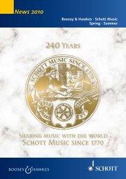 Schott Music since 1770 240Years - Boosey & Hawkes
