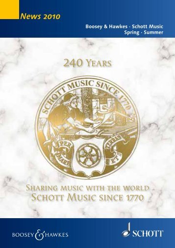 Schott Music since 1770 240Years - Boosey & Hawkes