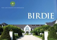 AUS LiEbE zUR JUGENd - Golf- und Country Club Seddiner See