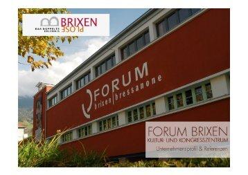 Referenzmappe - Forum Brixen