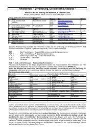 Protokoll vom 06.10.2004 - Bad Endorf