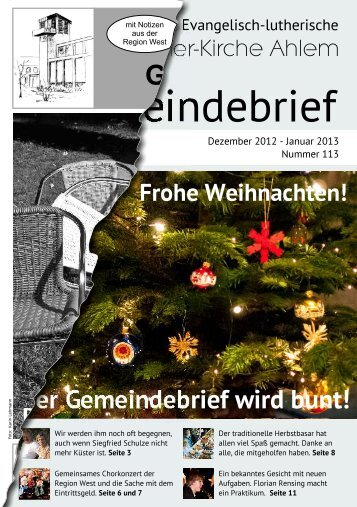 Der Gemeindebrief wird bunt! - Martin-Luther-Kirche Hannover Ahlem