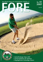 FORE 01/07 (PDF) - Aschaffenburger Golf Club