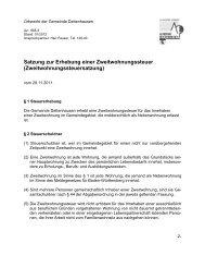 Satzung zur Erhebung einer Zweitwohnungssteuer - Gemeinde ...