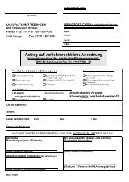 Antrag auf verkehrsrechtliche Anordnung - Gemeinde Dettenhausen