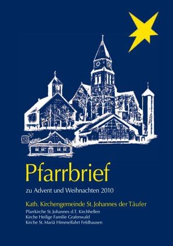 Pfarrbrief Weihnachten 2010 - Grafenwald