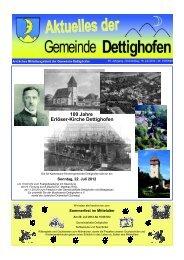100 Jahre Erlöser-Kirche Dettighofen - Gemeinde Dettighofen