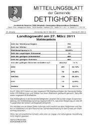 Ämter - Gemeinde Dettighofen