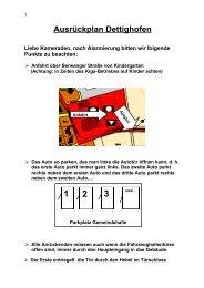 Ausrückplan Dettighofen Liebe Kameraden, nach Alarmierung bitten ...