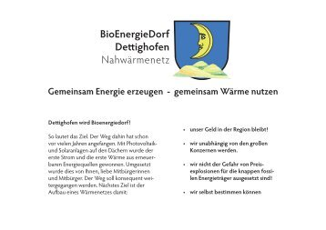 BioEnergieDorf De ighofen Nahwärmenetz