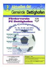 Fr.- So. 21./24. Juni 2012 Sportplatz Dettighofen EM Spiele auf ...