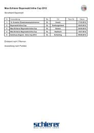 Max-Schierer Bayerwald Inline Cup 2012 - rennmeldung.de