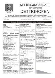 schulnachrichten/ fortbildung - Gemeinde Dettighofen
