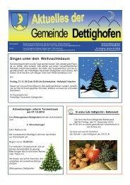 Singen unter dem Weihnachtsbaum - Gemeinde Dettighofen