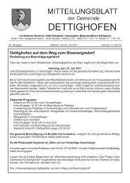 Dettighofen auf dem Weg zum Bioenergiedorf - Gemeinde Dettighofen