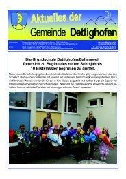 Die Grundschule Dettighofen/Baltersweil freut sich zu Beginn des ...