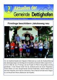 Firmlinge beschildern Jakobsweg neu - Gemeinde Dettighofen