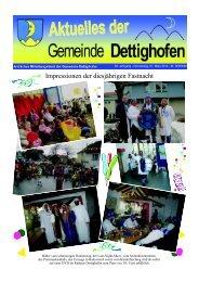 Impressionen der diesjährigen Fastnacht - Gemeinde Dettighofen