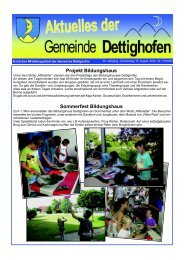 Projekt Bildungshaus - Gemeinde Dettighofen