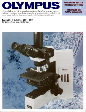 Presenting the Olympus Wastewater Analysis Microscope - Earth-2 ...
