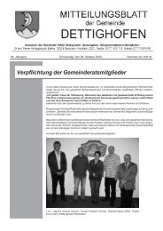 Verpflichtung der Gemeinderatsmitglieder - Gemeinde Dettighofen
