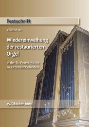 Wiedereinweihung der restaurierten Orgel - Katholische ...