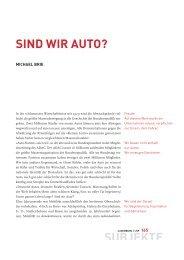 SUBJEKTE SIND WIR AUTO? - Zeitschrift Luxemburg