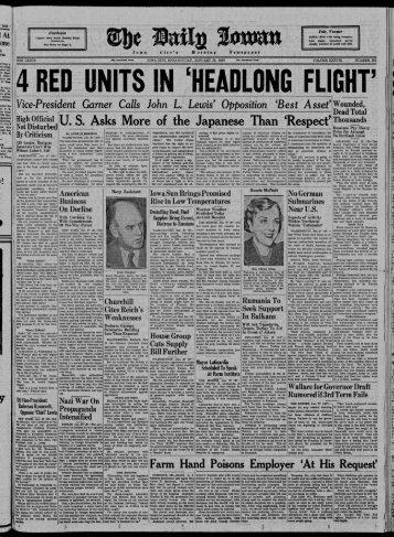 r - The Daily Iowan Historic Newspapers - University of Iowa