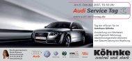Unsere Aktionen am Audi Service Tag