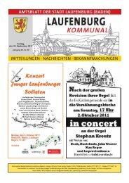 Freitag, den 30. September 2011 - Stadt Laufenburg